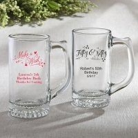 Personalized Birthday Design Glass Beer Mug Favors