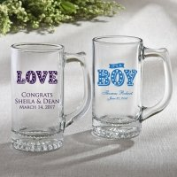 Personalized Marquee Design Glass Beer Mug Favors