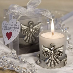 Divine Angel Pewter Candle Favor image