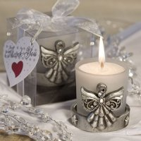 Divine Angel Pewter Candle Favor