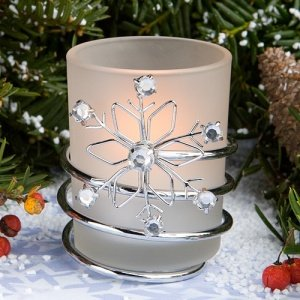 Metal Snowflake Candle Holders image