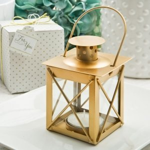 Love Lights The Way Luminous Matte Gold Lantern image