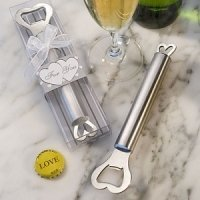 Stainless Wedding Bottle Opener with Heart Handle