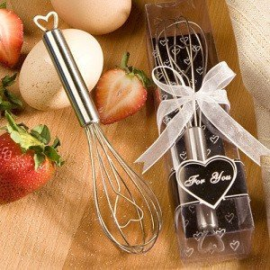 Heart Design Wire Whisk Favors for Weddings image
