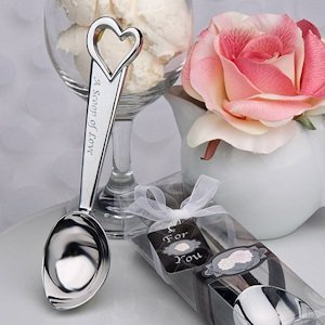 'A Scoop of Love' Ice Cream Scoop Wedding Favors image