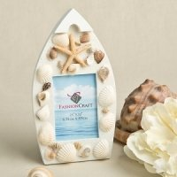 Natural Sea Shell Boat Shaped Photo Frame Favor