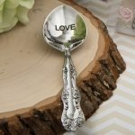 Love is Sweet Victorian Engraved Sugar Spoon Favors
