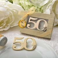 50th Design Golden Bottle Opener Party Favors