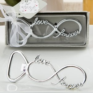 Infinity Design Silver Metal Bottle Opener Favors image
