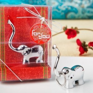 Silver Good Luck Elephant Ring and Jewelry Holder image