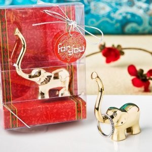 Gold Good Luck Elephant Ring and Jewelry Holder image