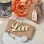 Shabby Chic Gold Love Bottle Opener Favors