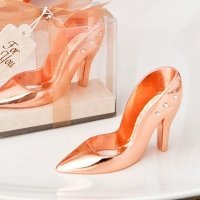 Rose Gold Shoe Design Bottle Opener Favors