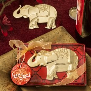Good Fortune Elephant Design Gold Metal Bottle Openers image