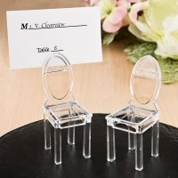 Miniature Clear Acrylic Formal Reception Chair Place Card Ho