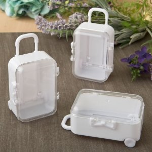 Travel Themed Mini Travel Suitcase Favor Boxes image