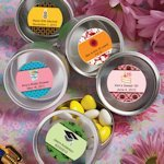 Personalized Themed Silver Round Mint Tins
