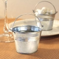 Galvanized Mini Buckets for Wedding Favors