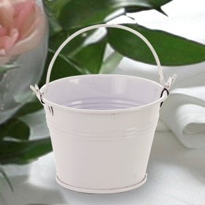 White Mini Party Favor Buckets image