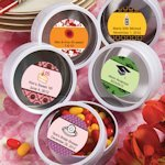 Personalized Themed White Round Mint Tins