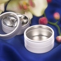 Round White Mint Tins