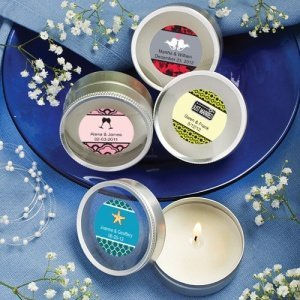 Personalized Round Travel Candles image