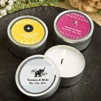 Aztec Wanderlust Design Scented Round Travel Candle Favors