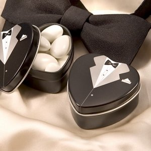 Fillable Groom Tuxedo Tins image