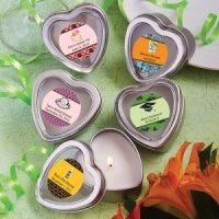 Personalized Themed Heart Shaped Travel Candles