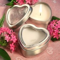 Heart Candle Favor Tins