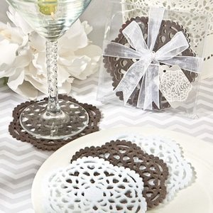 Lace-Like Felt Coaster Sets image