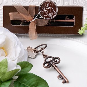 Vintage Party Favors - Skeleton Key Themed Keychains image