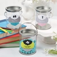Custom Clear Paint Can Wedding Favor Tins