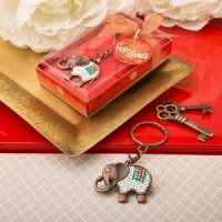 Exotic Elephant Copper Key Chain Indian Wedding Favor