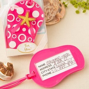 Flip Flop Luggage Tag Beach Wedding Favors image