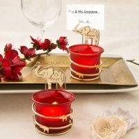 India Themed Candle Votive Place Card Holder