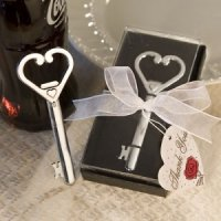 Chrome Key Bottle Opener Wedding Favors - Gift Boxed