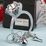 Gift Boxed Engagement Ring Key Chains