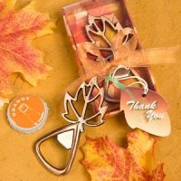 Autumn Magic Leaf Design Bottle Openers