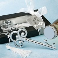 Victorian Key-Shaped Bottle Opener Wedding Favors