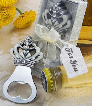 Sparkling Crown Design Bottle Opener Favors image