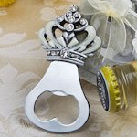 Sparkling Crown Design Bottle Opener Favors