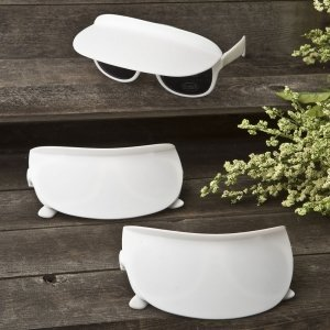 Unique White Sunglass and Visor Combination Favors image