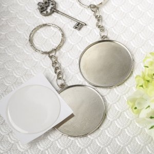Perfectly Plain Collection Epoxy Dome Metal Key Chain image