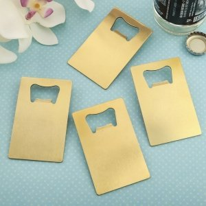 Perfectly Plain Collection Gold Credit Card Bottle Openers image