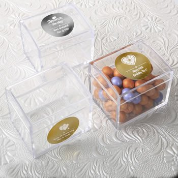 Personalized Special Event Acrylic Treasure Chest Favors image