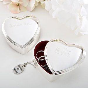 Engraved Stunning Silver Heart Box image
