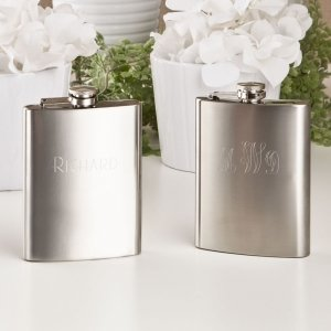 Engraved Stainless Steel Hip Flask image