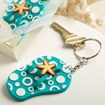 Beach Theme Flip Flop Key Chain Party Favors