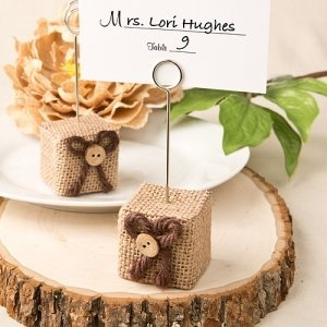 Rustic Burlap Place Card Holders image